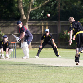 Club vs. School cricket match